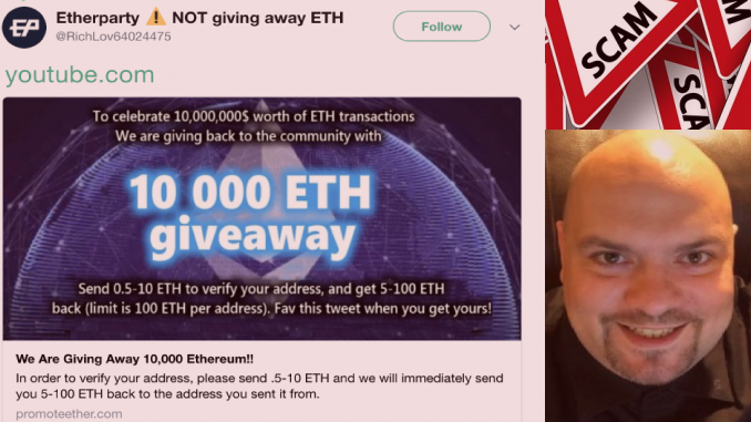 YouTuber Adam Guerbeuz conducts an exclusive interview with an Ethereum [ETH] giveaway scammer