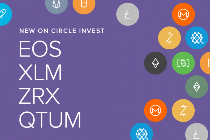 SEC approved cryptocurrency exchange, Circle Invest lists 4 projects: EOS, Stellar[XLM], 0x[ZRX], and Qtum