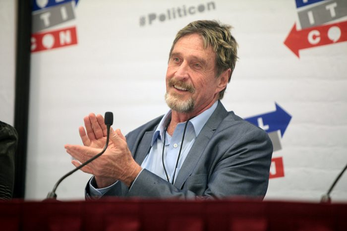 John McAfee asks hackers to fight India's Bitcoin (BTC) ban