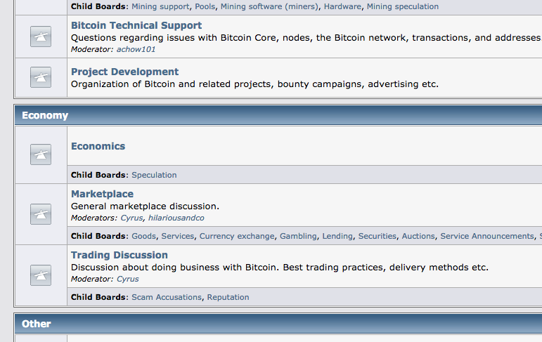 Bitcointalk Marketplace section