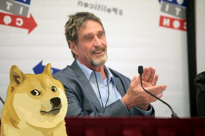 John McAfee considers Dogecoin as one of the fastest growing Cryptos based on usage