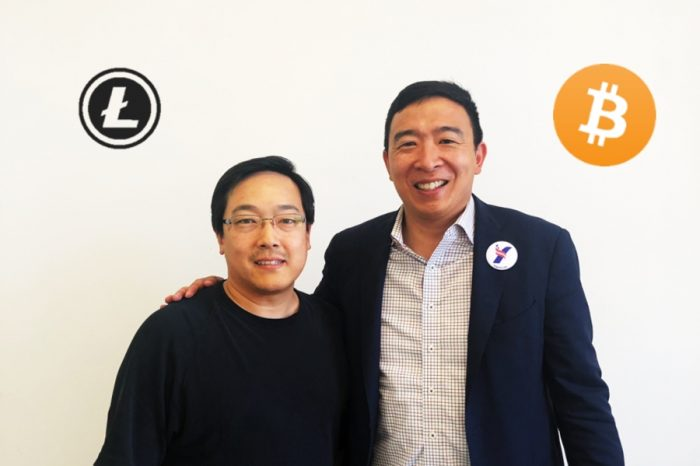Litecoin creator Charlie Lee meets with Crypto friendly Presidential Candidate Andrew Yang