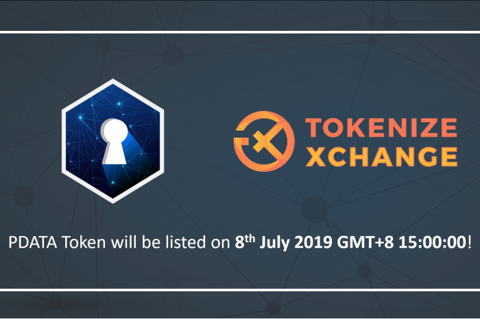 Tokenize Xchange Announces Listing of Opiria's PDATA Token After Successful IEO Round of USD $1 Million
