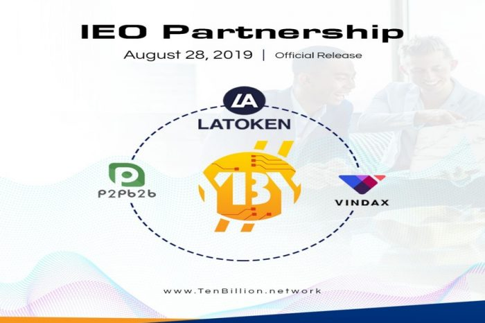 Ten Billion Coin Announces Commencement of IEO and its Third partnership
