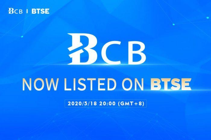 BCB Blockchain Announces Listing of Utility Token on BTSE Exchange