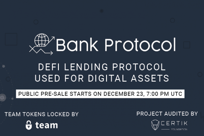 Bank Protocol : All in One DeFi Lending Protocol for Digital Assets.